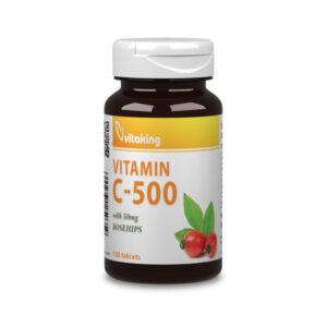 C-vitamin 500 mg + 30 mg csipkebogyó (100db) Vitaking