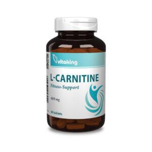 Vitaking L-karnitin 680mg (60 tabletta) Társ az edzésekhez!