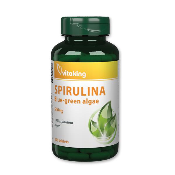 Vitaking 100% Spirulina alga 500mg (200 db) - vitaminkiraly.hu