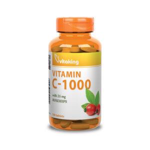 1000 mg-os C-vitamin 25 mg csipkebogyóval kiegészítve - Vitaking
