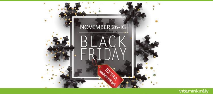 Black Friday - Őrült kedvezmények egészen vasárnap éjfélig!
