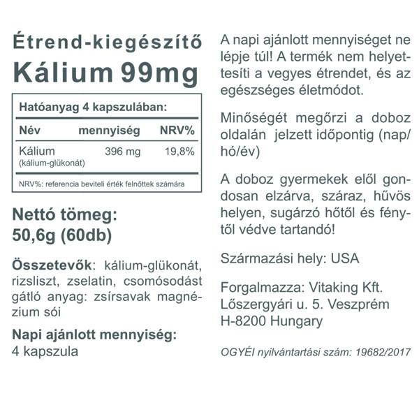 """Képtalálat a következőre: """"Kálium 99mg (60db) – Vitaking"""""""