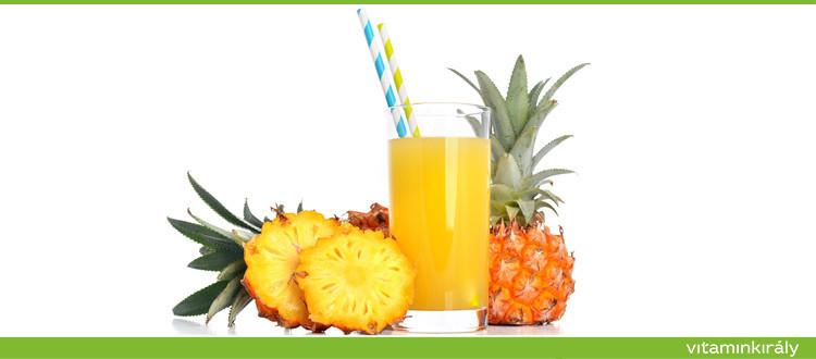 Az ananászlé 5-ször hatékonyabb, mint a köhögés elleni szirupok