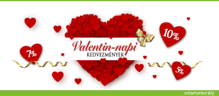 ♡ Valentin vásár! 5-7-10 % kedvezmény + ingyen szállítás!