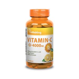 C- és D-vitamin egyben - Vitaking C1000 + D4000 komplex