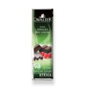 Belga étcsokoládé bogyós gyümölcs darabokkal 40g (Cavalier)