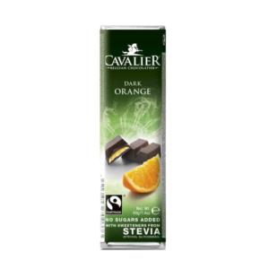Belga étcsokoládé narancs krémmel 40g (Cavalier)