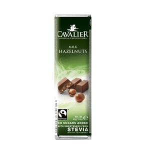 Belga tejcsokoládé törökmogyoró darabokkal 40g (Cavalier)