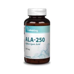 Vitaking Alfa liponsav 250mg (60 kapszula) Rendelés >szula) Rendelés >