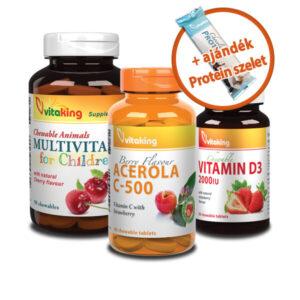 Vitamin csomag gyerekeknek, 10% kedvezmény, ingyen szállítás!