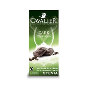 Belga étcsokoládé hozzáadott cukor nélkül 85g (Cavalier)