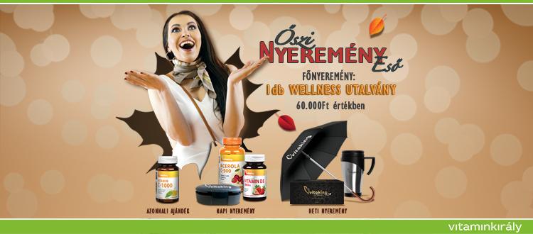 Őszi nyereményeső! Rendelj és nyerj a vitaminoddal!